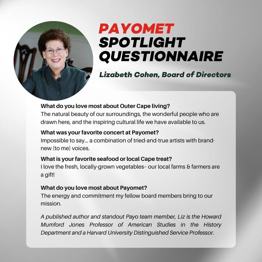 Lizabeth Cohen in Payomet's Spotlight Questionnaire